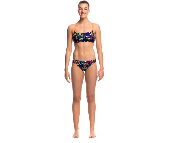 Funkita Criss Cross Top Bikini Damer sort/farverig | swim_clothes
